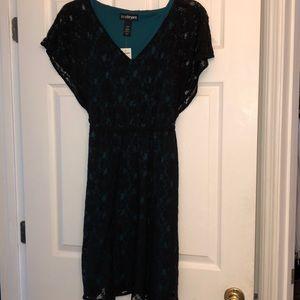 Beautiful dress. Never worn. Lace overlay.